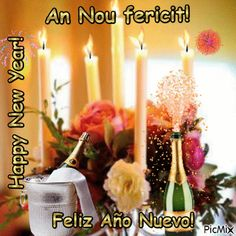 Feliz Año Nuevo!q2 An Nou Fericit, Anul Nou, Happy New, Candles, Happy New Year, Candle, Lights