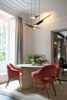 Lámparas de techo en Casa Decor 2014: comedor de Beatriz Silveira