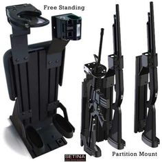 Police vehicle gun rack.