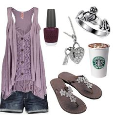 """Out for a coffee run."" by charleneanais on Polyvore"