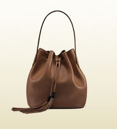 Gucci レザー バケットバッグ / Leather Bag with tassel on ShopStyle
