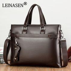 2017 Men Casual Briefcase Business Shoulder Bag Leather Messenger Bags  Computer Laptop Handbag Bag Men s Travel 1303e33ba7f22