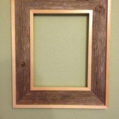Cute Picture Frames, Barn Wood Picture Frames, Picture Frame Crafts, Picture On Wood, Wooden Frames, Photo Frame Design, Framing Photography, Diy Frame, Bakery Design