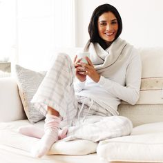Discover our luxury nightwear, from cotton robes & cosy slipper boots & warm pyjamas for women at The White Company. Shop our cashmere socks & slippers online. Cute Pijamas, Luxury Nightwear, Cashmere Socks, Pj Party, The White Company, Effortless Chic, Pajamas Women, Pyjamas, Warm And Cozy