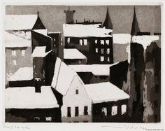 Pietilä, Tuulikki Talvi-ilta Helsingissä 1964 Grafic Art, Tove Jansson, Source Of Inspiration, Finland, Urban, Architecture, Abstract, Sketchbooks, Artwork