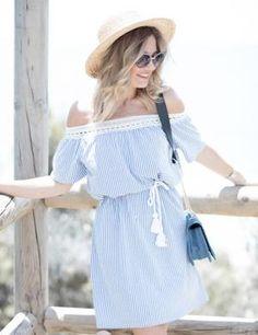Mi aventura con la moda Vestido boho azul