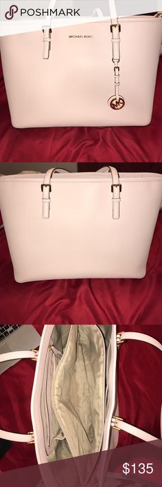 Michael Kors Baby Pink Tote Large MK tote, used only for a few months. It was too big for me. Michael Kors Bags Totes