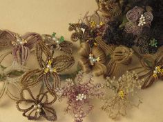 victorian hair art made from actual hair. Man, the victorians were a strange lot.