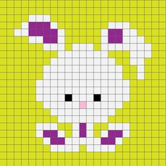 Crochet Rabbit Zoodiacs Bunny Rabbit Crochet Graph More - Here's my Zoodiacs Bunny Rabbit graph, perfect for corner to corner or graphghan crochet blankets. Crochet Pixel, Crochet Chart, Crochet Motif, Knitting Charts, Knitting Stitches, Baby Knitting, Cross Stitch Charts, Cross Stitch Designs, Cross Stitch Patterns
