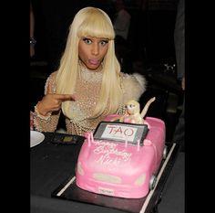 Nicki Minaj's second custom barbie corvette birthday cake www.gimmesomesugarLV.com
