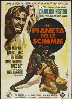 CAST: Charlton Heston, Roddy McDowall, Kim Hunter, Maurice Evans, Linda Harrison, James Whitmore, James Daly; DIRECTED BY: Franklin J. Schaffner; PRODUCER: Arthur P. Jacobs Mort Abrahams; Features: -