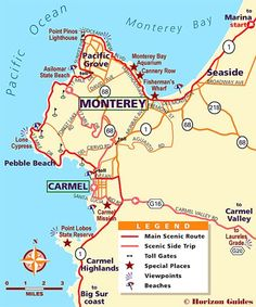 Explore Monterey: #1 Vacation Travel Guide - hotels, maps, photos