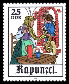 Rapunzel stamp, Germany, 1978