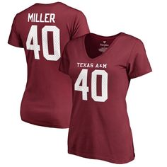 Von Miller Texas A&M Aggies Fanatics Branded Women's College Legends Name & Number T-Shirt - Maroon