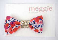 Liberty London Wiltshire S Flower baby bow hair clip