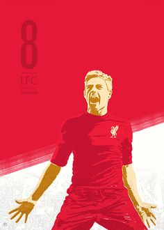 11 Series: Soccer Illustrations by Ty Palmer: Steven Gerrard Gerrard Liverpool, Fc Liverpool, Liverpool Football Club, Liverpool Images, Liverpool Wallpapers, Best Football Team, Football Soccer, Football Posters, Stevie G