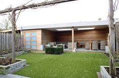 Diy Garden, Outdoor Projects, Summer House, Pool House, Backyard Design, Outdoor Decor, Garden Buildings, Outdoor Kitchen, Interior Garden