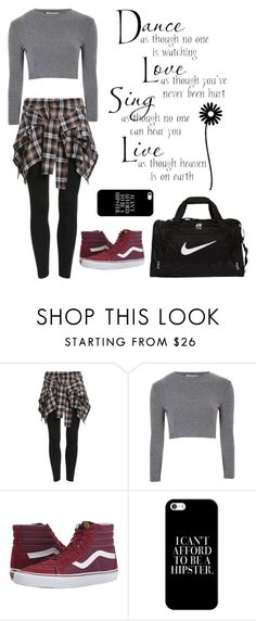 """hip hop"" by cori-felton ❤ liked on Polyvore featuring Glamorous, Vans, Casetify and NIKE"