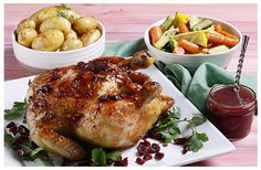 Roast Chicken with Cranberry Orange Glaze and Sauce | Huletts Sugar