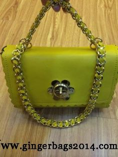 Latest Mulberry Fall 2014/Mulberry Cecily Shoulder Bag with Flower Lock lemon
