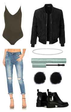 """""""Untitled #418"""" by valerialoman on Polyvore featuring Topshop, BLANKNYC, LE3NO and Anne Sisteron"""