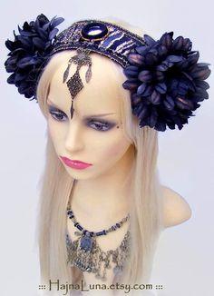 Tribal Fusion Headdress by HajnaLuna #tribalfusion