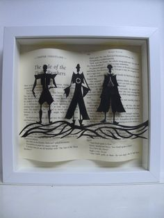 The Three Brothers - Harry Potter framed art - paper cutting - Harry Potter gift - book lovers gift by PaversPaper on Etsy