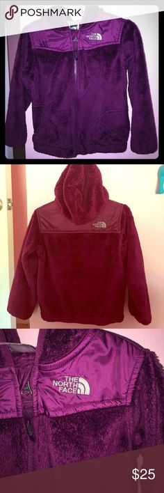 North Face Hoodie Good used condition North Face Oso hoodie. Size 4T The color is a deep purple The North Face Jackets & Coats
