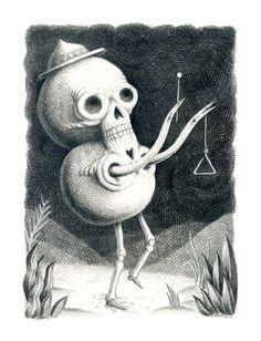 Skull Man | Art & Illustration | Showchicken - Nick Sheehy