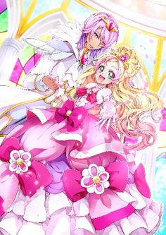 Go princess precure: Kanata and Haruka, I absolutely love seeing them together  <3 I wish there was more fan art :0