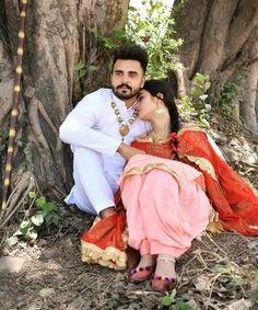 Punjabi Wedding Couple, Punjabi Couple, Romantic Love Couple, Beautiful Couple, Indian Wedding Photography, Couple Photography, Couple Pictures, Girl Pictures, Cute Couples Goals