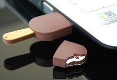 Chocolate Ice Cream Bar USB - $6 http://pop-solutions.tumblr.com