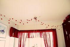 Girlang med svävande hjärtan (Garland with floating hearts)
