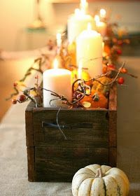 The Bluebird Patch (Happiness Blog): 20 Amazing Fall Decor Ideas for the Home - for kitchen table, harvest time