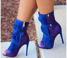 Royal blue heels                                                                                                                                                                                 More