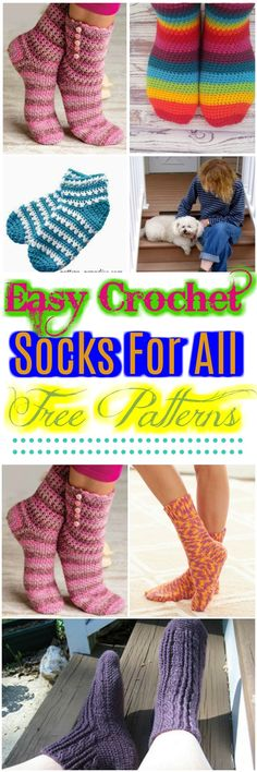 I have rounded up easy #crochet #socks for free patterns for your inspiration.