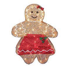 30-in Mesh Gingerbread Girl