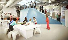 Estancia de uno de los colegios públicos suecos diseñados por Rosan Bosch Studio. - Inspiration for Kindergarden and Primary Schools by SI Architects