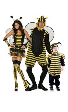 Disfraz de familia abeja: Disfraz de abeja sexy para mujerEste disfraz de abeja sexy se compone de una falda, un top, una diadema, una gargantilla, dos mitones, medias y un par de alas. El top negro y amarillo tiene finos...