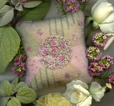 Needlepoint with Mohair designed and embroidered by Cindy Thompson