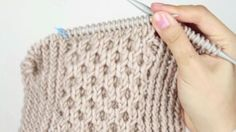 How to knit a Honey Stitch Cowl