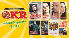Osuuskaupparock tulee taas - tällä kertaa peräti kolmipäiväisenä! Joensuun Sirkkalanpuistossa päästään nauttimaan maamme eturivin tähdistä 12.-14. kesäkuuta 2015.