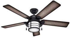 Hunter Fan Ceiling Fan with Light Black 20 X 23.8 X 9.8