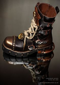 emporioefikz: Steampunk skypirate boots                                                                                                                                                                                 More