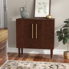 @ Gardner 2 Door Accent Cabinet By Langley Street Old Fashioned Christmas Decorations, Accent Chest, Foyer Decorating, Decorating Hacks, Wooden Tops, Wood Accents, Mid Century Modern Design, Living Room Modern, Adjustable Shelving