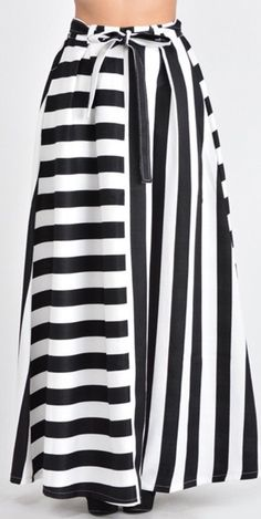 A Line Flare Maxi Skirt