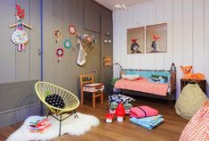 the boo and the boy: eclectic kids room! Cool Kids Bedrooms, Girls Bedroom, Kids Corner, Baby Decor, Kids Decor, Girl Room, My Room, Deco Design, Home And Deco