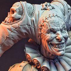 Mark Newman - Malavestros! Original sculpt. Pre-mold, cast paint.