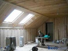 Lambris pvc toit sous pente recherche google salle de bain des lilas pi - Comment isoler un toit en tole ...