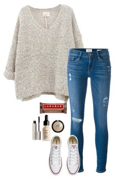 """""""late night grocery run"""" by gabyleoni ❤ liked on Polyvore featuring Frame, Converse, NYX, Charlotte Russe and Ilia"""